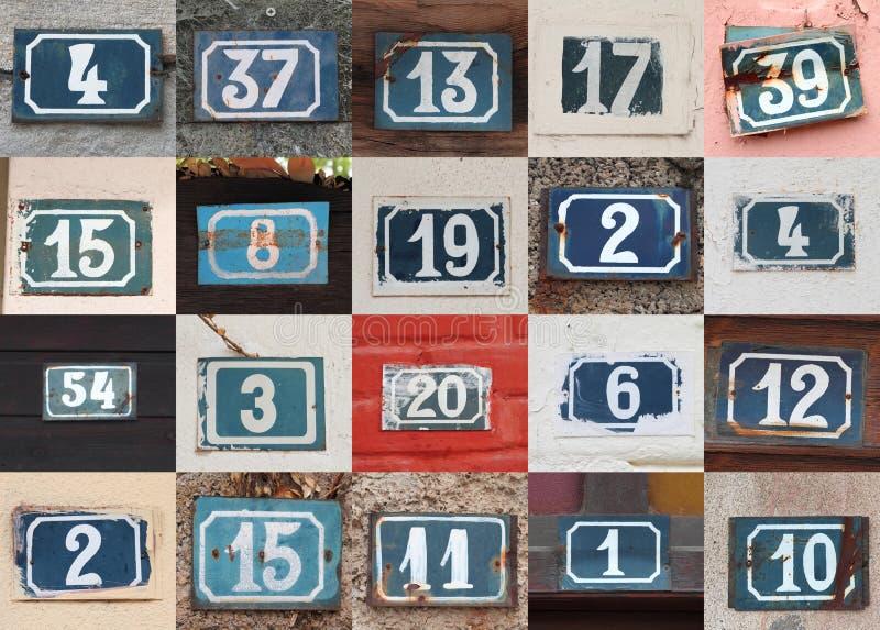 Numeri civici immagine stock