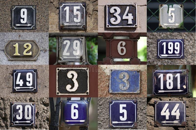 Numeri civici fotografia stock libera da diritti