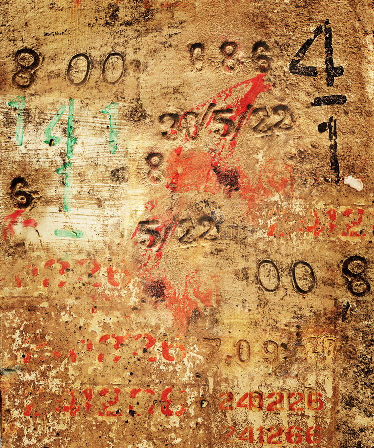 Numeri concreti fotografia stock