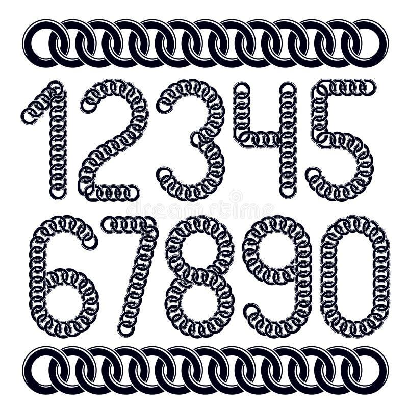 Numeri d'avanguardia raccolta, rappresentazione dei numeri di vettore Creato facendo uso dei connett. illustrazione vettoriale