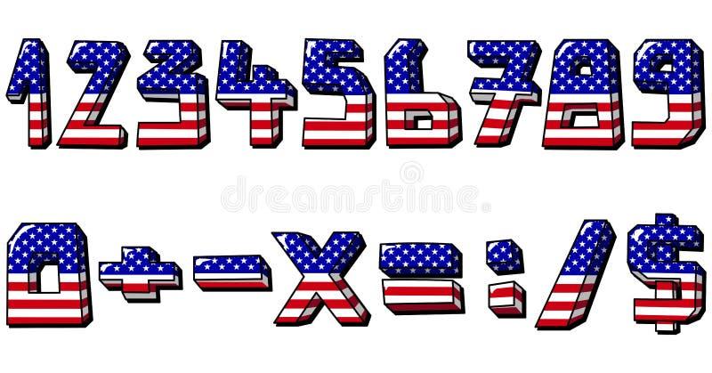 Numeri degli S.U.A. illustrazione vettoriale