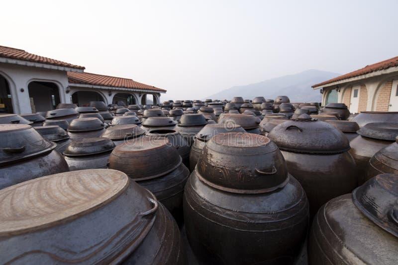 Numeri dei vasi di argilla immagini stock libere da diritti