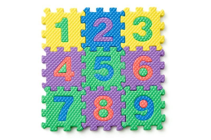 Numeri del blocchetto di gomma piuma immagine stock