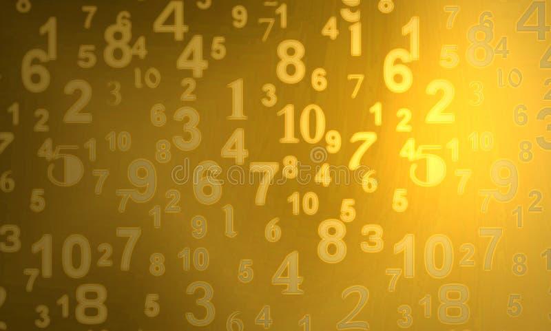Numeri dell'oro illustrazione di stock
