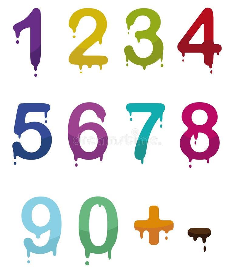 Numeri di goccia illustrazione di stock