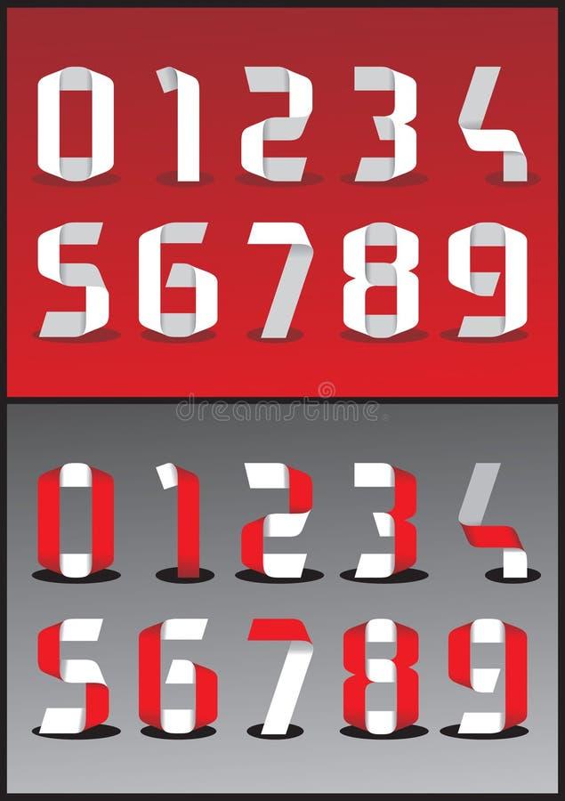 Numeri di vettore 3D illustrazione vettoriale