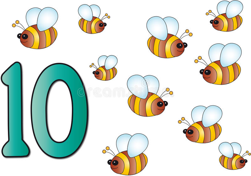 Numeri: dieci illustrazione di stock