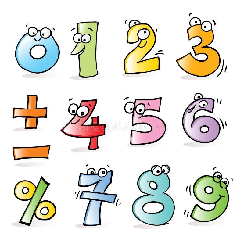 Numeri divertenti illustrazione vettoriale