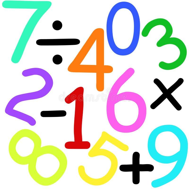 Numeri e segni illustrazione di stock