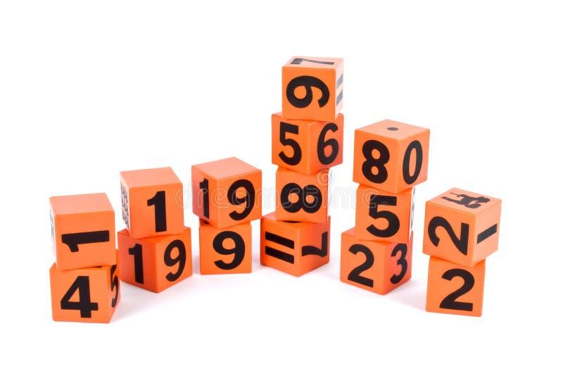 Numeri e segno fotografie stock