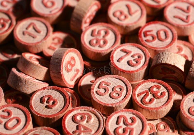 Numeri fortunati di bingo fotografie stock libere da diritti
