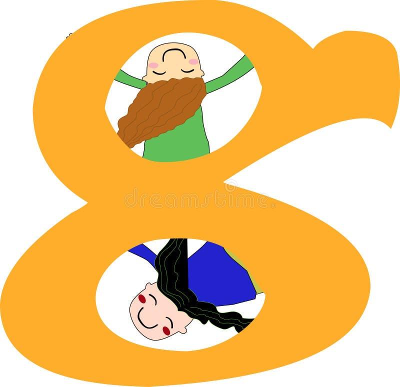 Numeri otto illustrazione vettoriale