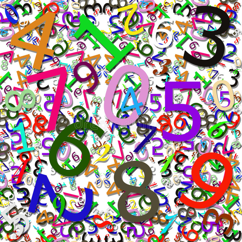 Numeric Pattern royalty free stock image