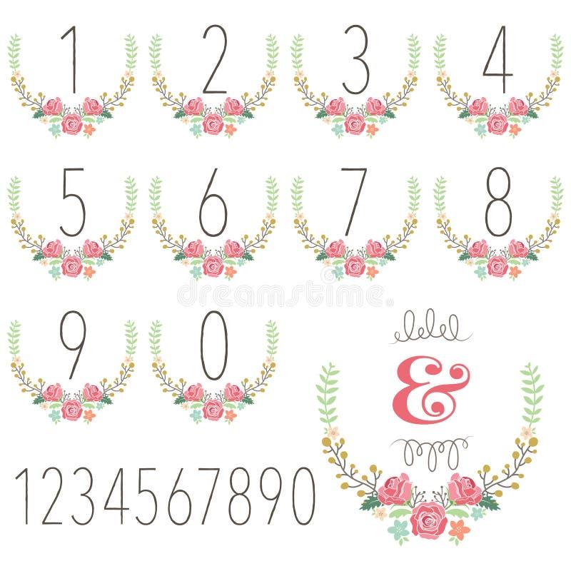 Free Numeric Wreath Table Card Royalty Free Stock Photos - 60887428