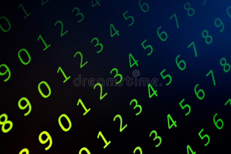 Numerical continuous, abctract data in binary code, give technology felling. Numerical continuous in double tones, abctract data in binary code, shoot in the stock photos