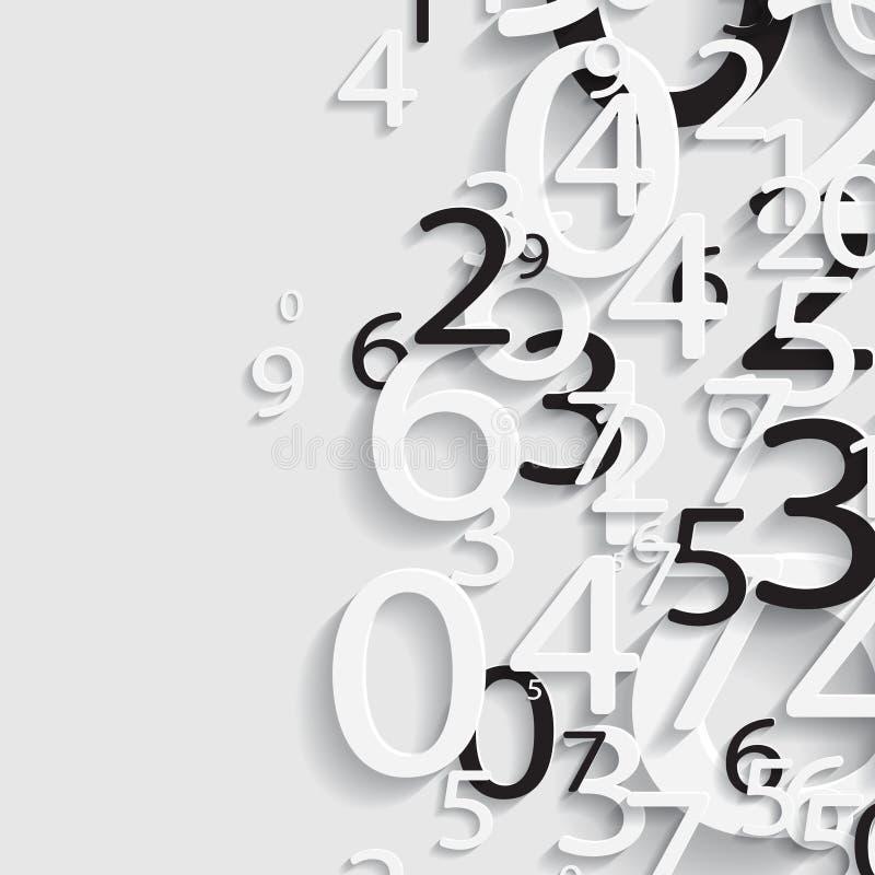 Numerieke document abstracte achtergrond royalty-vrije illustratie
