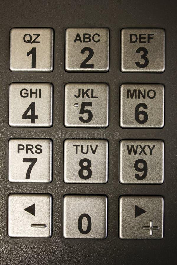 Numerische Tastatur ATMs lizenzfreie stockfotografie