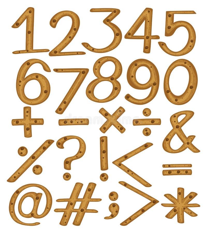 Numerische Zahlen und Symbole lizenzfreie abbildung