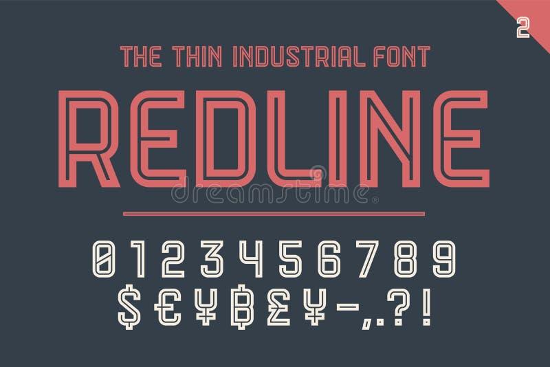 Numerischer und Symbolguß rote Linie lizenzfreie abbildung