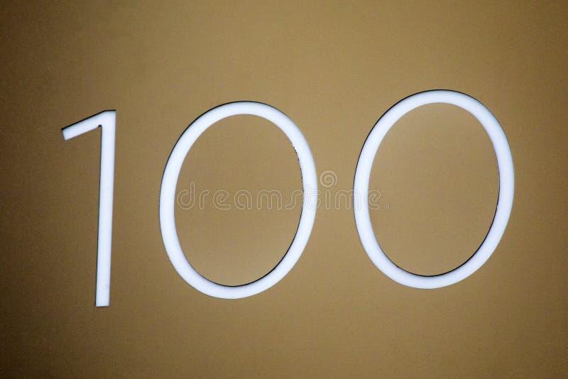 Numero 100 fotografia stock