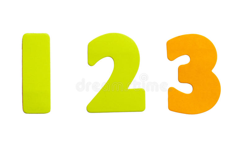 Numero 123 fotografie stock