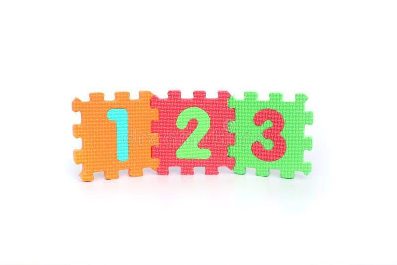Numero 123 immagini stock