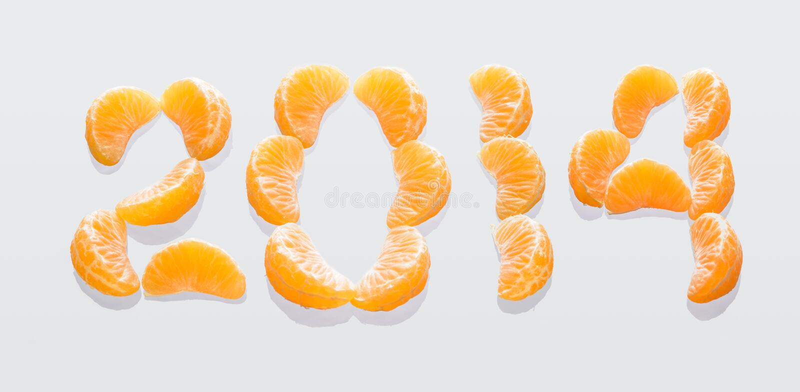 Numero 2014 immagini stock