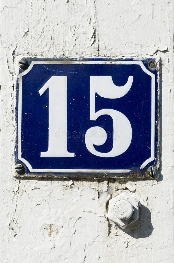 Numero 15 immagine stock