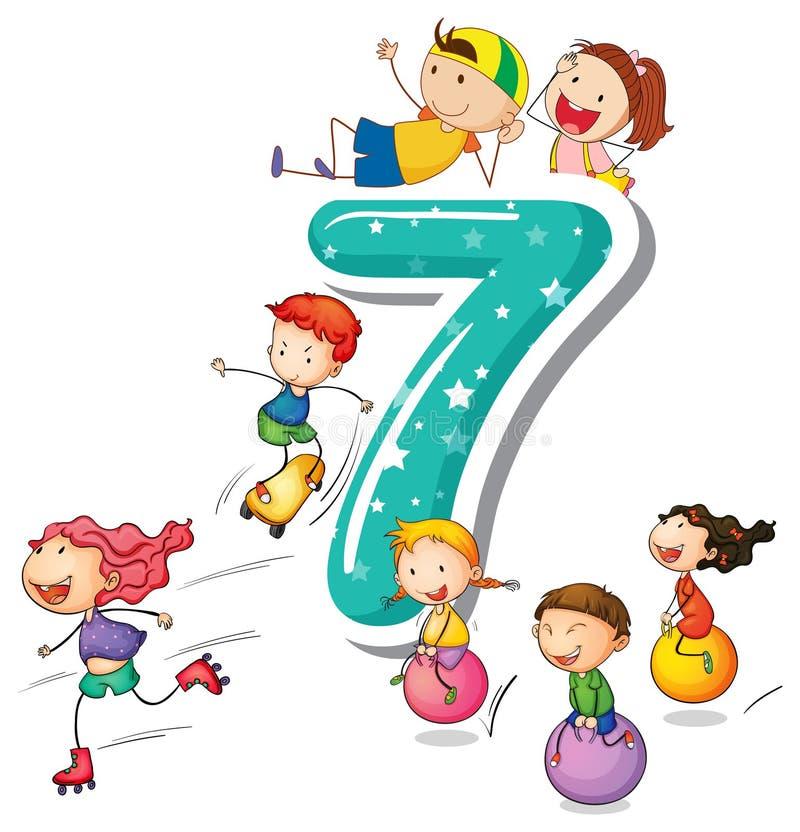 Numero 7 royalty illustrazione gratis