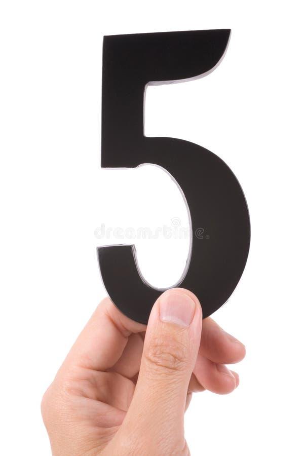Numero 5 fotografia stock