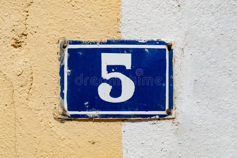 Numero casa 5 immagini stock libere da diritti