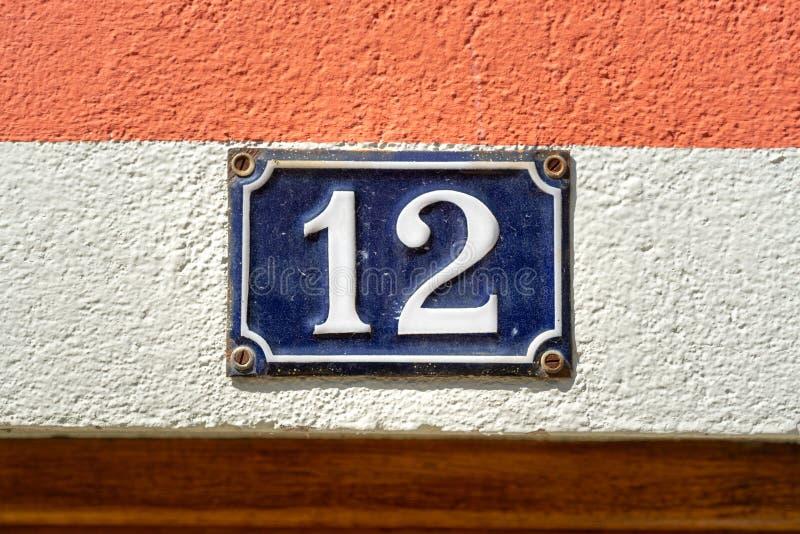 Numero casa 12 fotografia stock