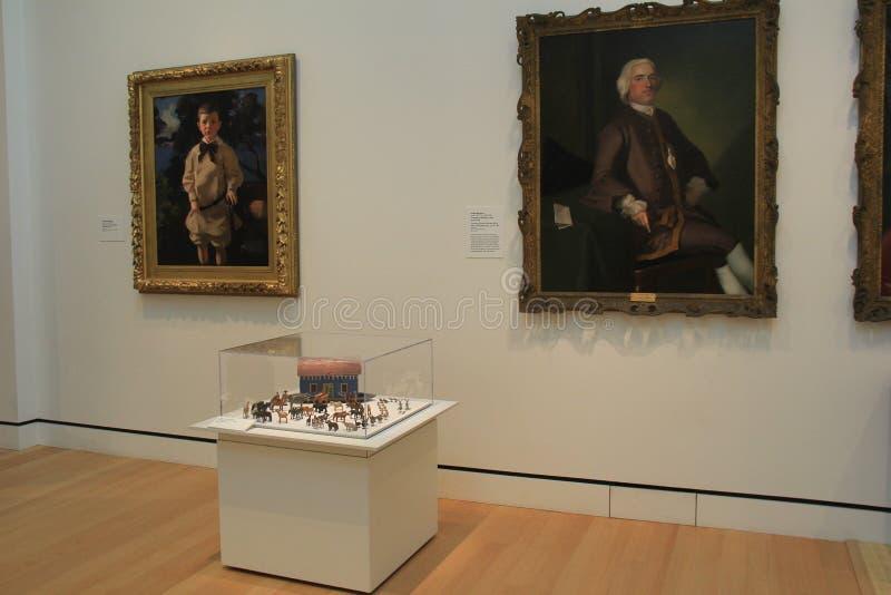 Numero delle pitture e dell'arca miniatura del ` s di Noè in una di molte stanze, museo di Peabody Essex, Salem, Massachussets, 2 fotografie stock libere da diritti