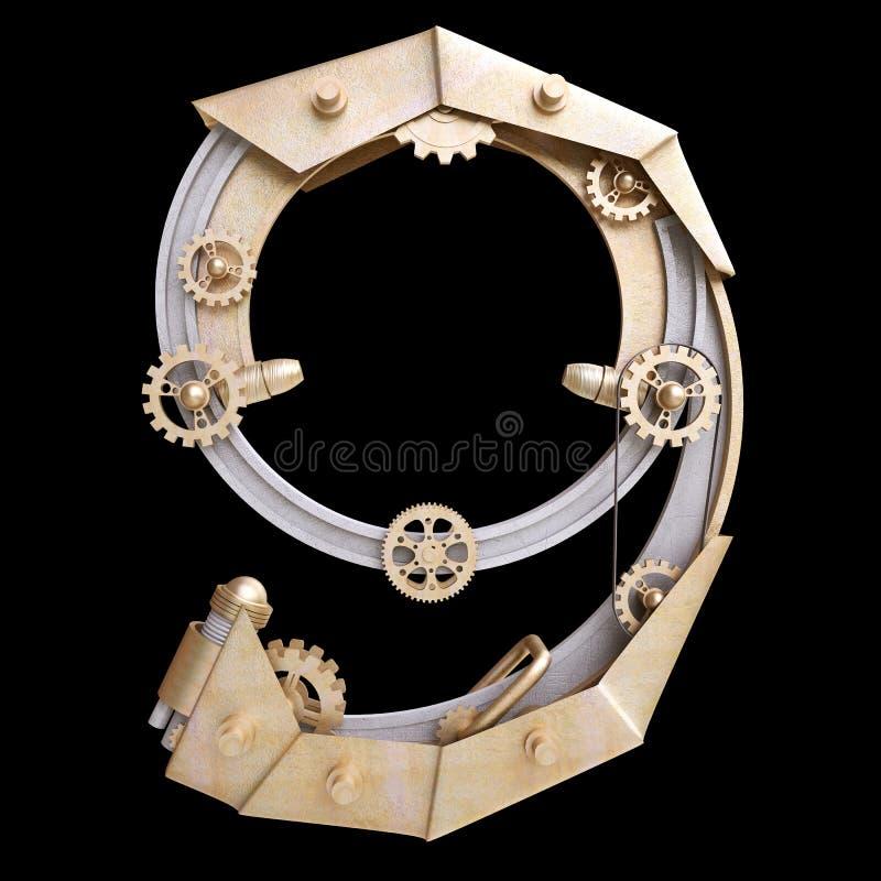 Numero meccanico del ferro illustrazione vettoriale