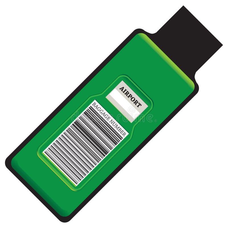 Numero moderno dei bagagli dell'etichetta illustrazione vettoriale
