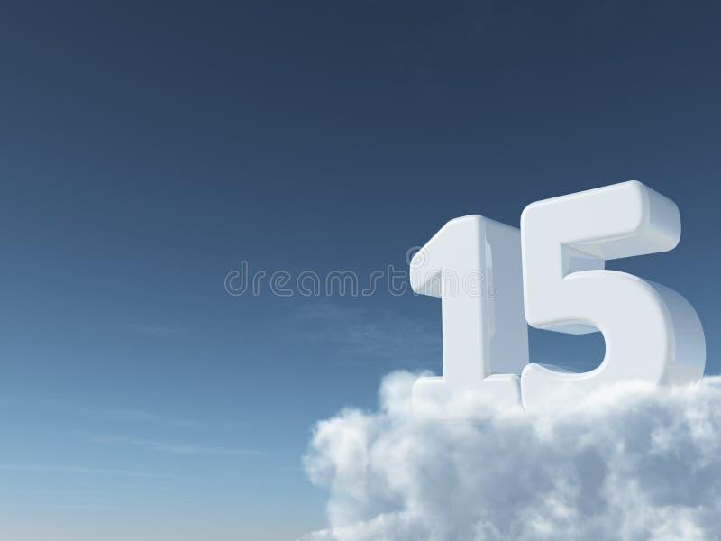 Numero nel cielo illustrazione vettoriale