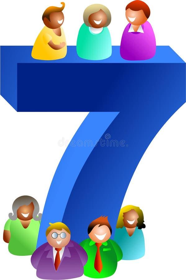 Numero sette illustrazione vettoriale