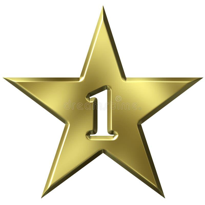 Numero una stella illustrazione vettoriale