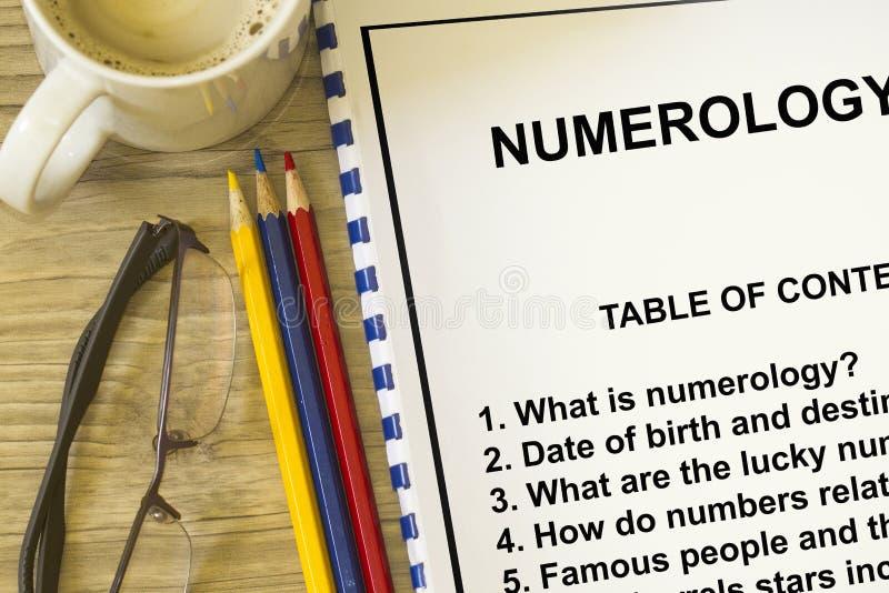 numerology royalty-vrije stock foto's