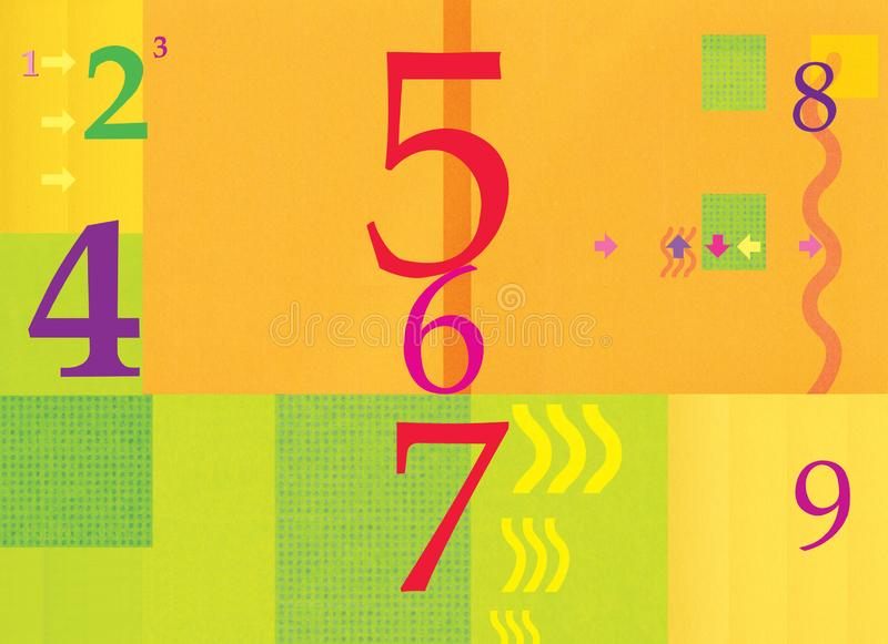 numerology abbildungen Abstrakter Hintergrund, orange Grün Sommer und Herbst Pfeile und Wellen Steigungsmasche, Steigungen vektor abbildung