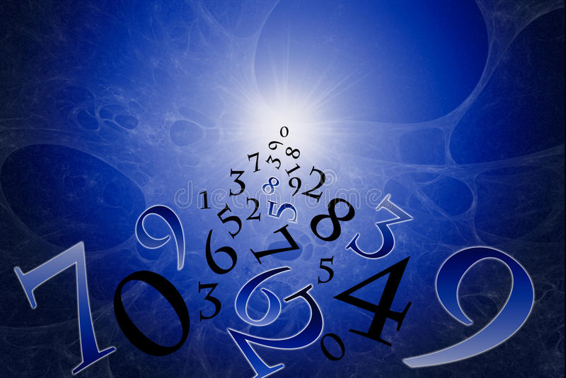Numerology (the ancient science). vector illustration