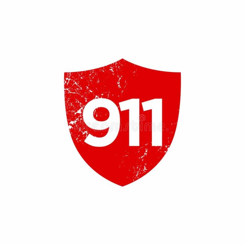 Numerowi 911 nagłego wypadku płaski projekt ilustracji