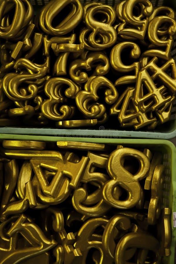 numerowy pisać na maszynie kolor żółty fotografia royalty free