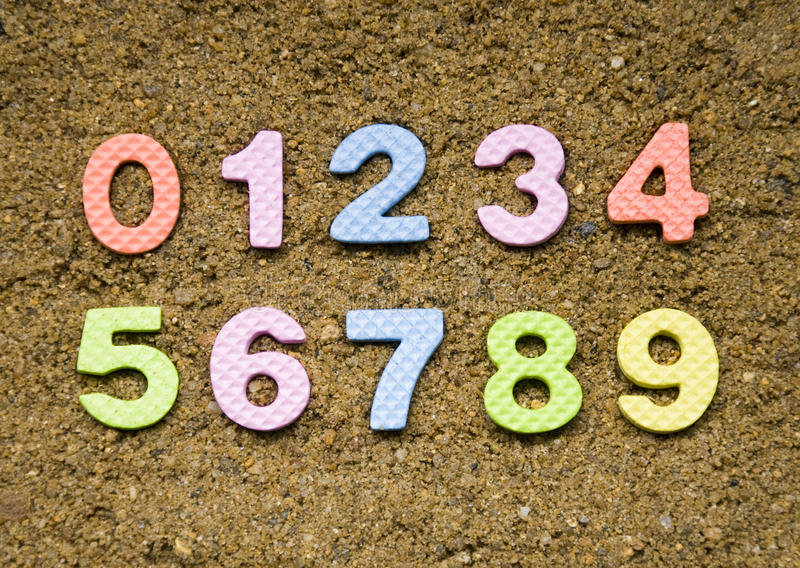 numerowy symbol fotografia stock