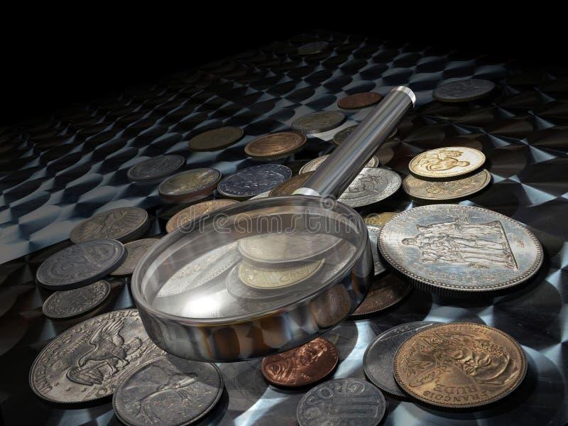 Download Numismatics stock illustration. Image of coin, euro, lira - 21476898