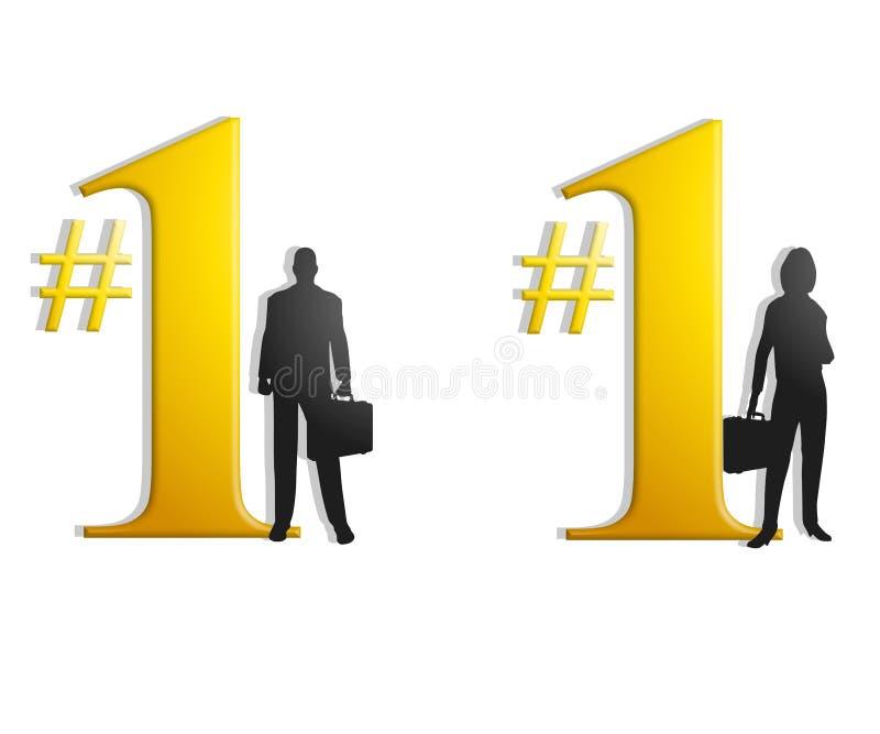 Nummer Één BedrijfsMensen vector illustratie