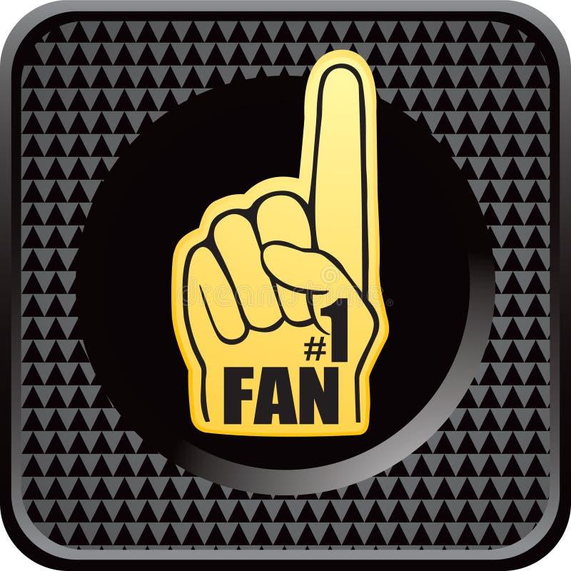 Nummer één ventilatorhand op geruite Webknoop royalty-vrije illustratie