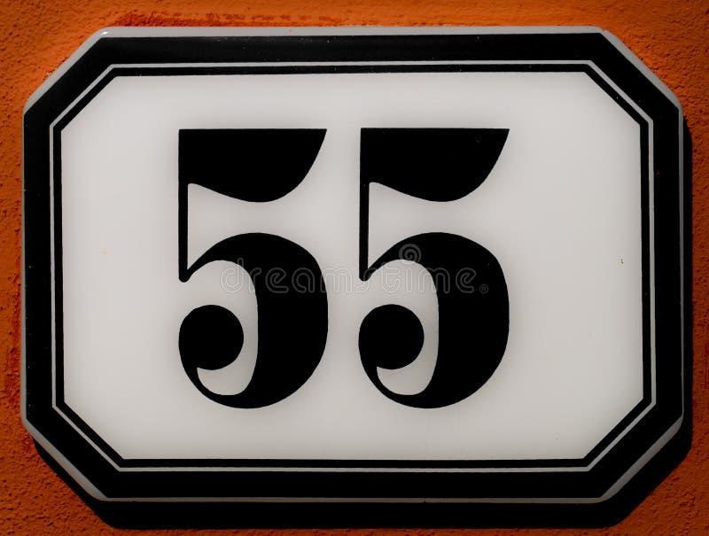 Nummer 55 fotografering för bildbyråer