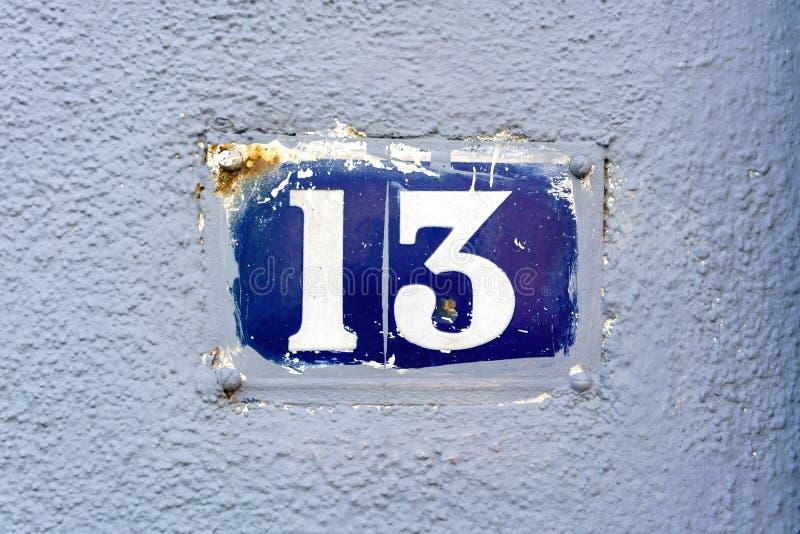 Nummer 13 arkivbilder