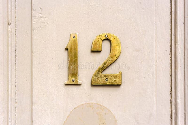 Nummer 12 royalty-vrije stock afbeelding